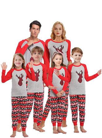 Rentier Farbblock Passende Familie Christmas Pajamas
