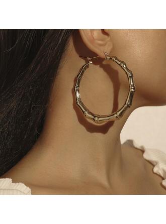 Klassische Art Rund Bügeleisen Frauen Ohrringe 2 STÜCK