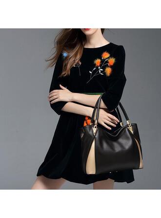 Elegant/Fashionable/Splice Color Tote Bags/Crossbody Bags