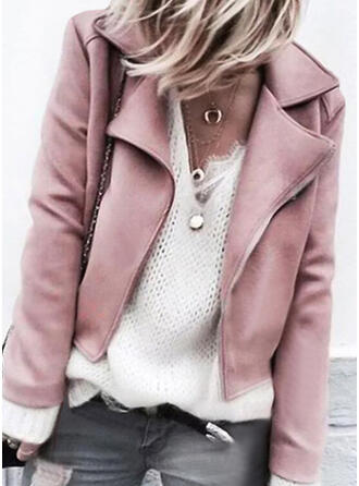 Long Sleeves Solid Jackets