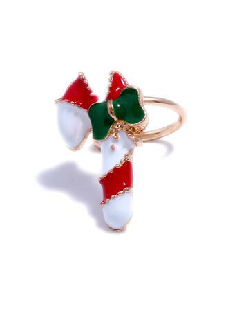 Einfache Weihnachten Legierung Ohrringe