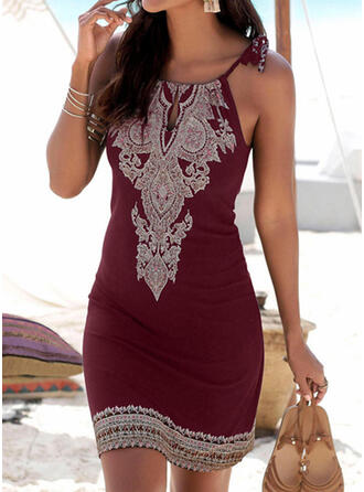 Stripe Splice color Round Neck Elegant Cover-ups Swimsuits