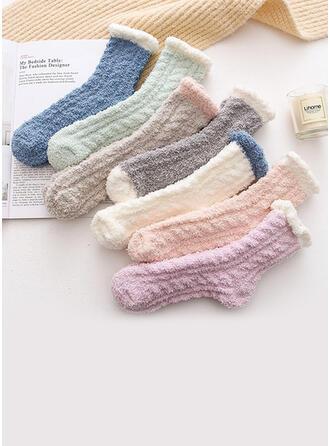 Solid Color simple/Crew Socks Socks
