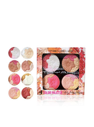 4-color Waterproof Brighten Blusher Eyeshadow Palette With Box