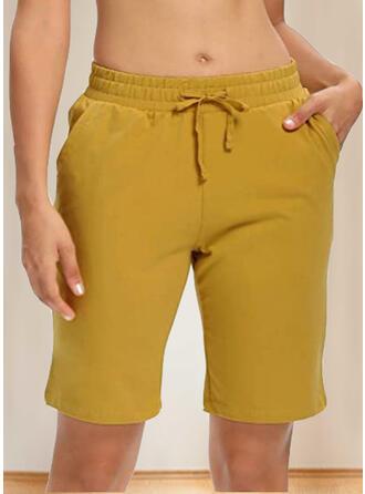 Plus Size Drawstring Casual Shorts