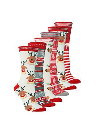 Weihnachten Rentier Komfortabel/Weihnachten/Crew Socks Socken