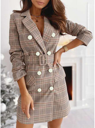 Print Long Sleeves Casual Dresses