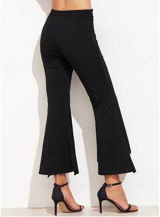 Geometrisch Shirred Übergröße Beschnitten Elegant Sexy Hosen