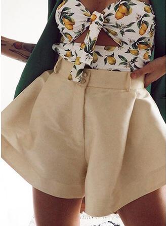 Solid Elegant Shorts