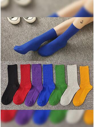 Einfarbig/Bunt Atmungsaktiv/Komfortabel/Crew Socks Socken