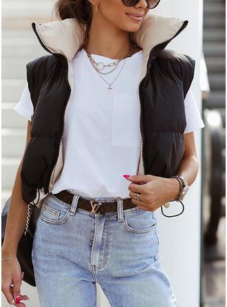 Sleeveless Solid Jackets