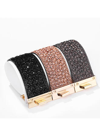 Fashionable Alloy Rhinestones With Rhinestone Women's Ladies' Bracelets