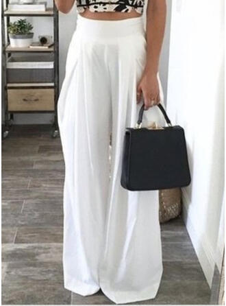 Taschen Shirred Lange Lässige Kleidung Elegant Sexy Hosen