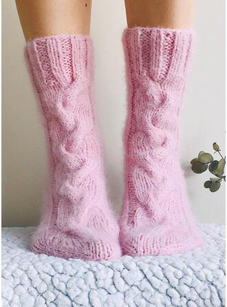 Solid Color Warm Socks 2 PCS