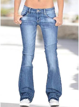 Taschen Übergröße Lange Lässige Kleidung Denim Jeans