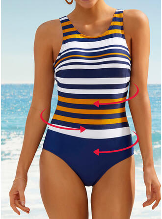 Stripe U-Neck Sexy Fresh Casual Amazing One-piece Swimsuits