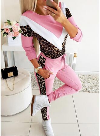 Geometrisch Leopard Kordelzug Lange Lässige Kleidung Sexy Sportlich Hosen