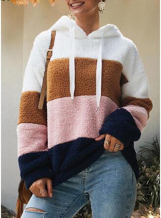 Solid Hooded Long Sleeves Sweatshirt