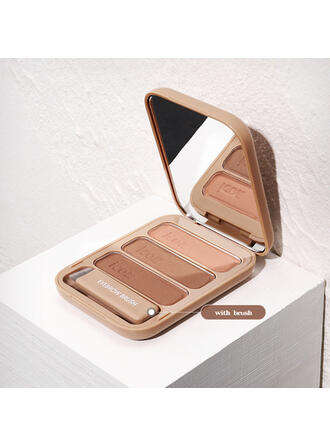 3-color Matte Highlight & Bronze Eyeshadow Palette With Box