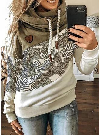 Leopard Lange Ärmel Kapuzen