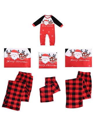 Weihnachtsmann Rentier Karierte Schreiben Drucken Passende Familie Christmas Pajamas