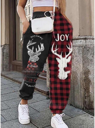Print Christmas Casual Sporty Lounge Pants