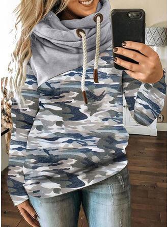 Print Camouflage Long Sleeves Hoodie