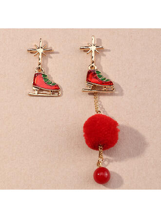 Quasten Entwurf Weihnachten Legierung Ohrringe 2 STÜCK