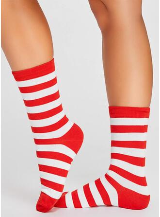 Striped Comfortable/Christmas/Crew Socks/Unisex Socks