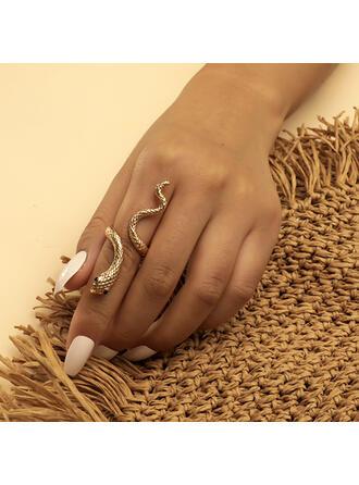 Exotisch Schlange Geformte Boho Legierung Ringe