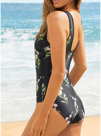Print Round Neck Sexy Fresh Casual Amazing One-piece Swimsuits