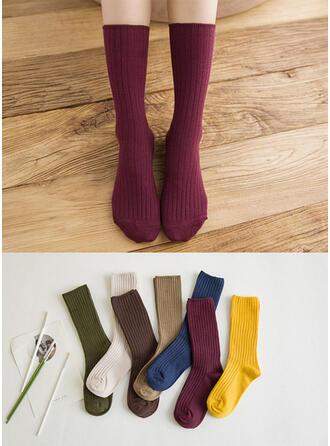 Einfarbig Atmungsaktiv/Crew Socks Socken
