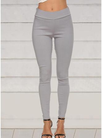 Einfarbig Übergröße Lange Elegant Sexy Hosen Gamaschen