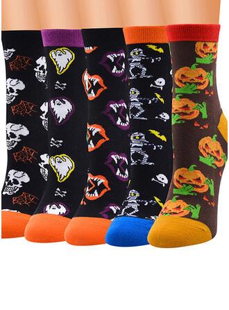 Animal Print/Graphic Prints/Halloween Warm/Skin-Friendly/Washable/Simple Style/Soft Socks