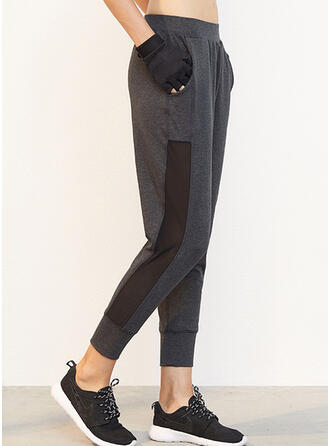 Geometrisch Beschnitten Lässige Kleidung Sportlich Yoga Hosen