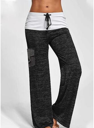 Geometrisch Taschen Übergröße Kordelzug Lässige Kleidung Sportlich Yoga Lounge Pants
