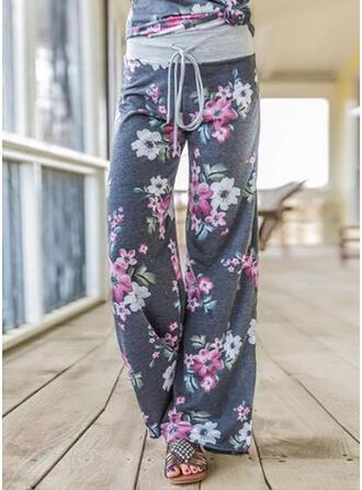 Blumen Geometrisch Übergröße Kordelzug Lässige Kleidung Sportlich Yoga Lounge Pants