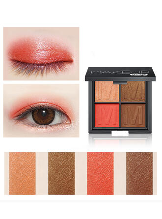 4-color Matte Shimmer Classic Eyeshadow Palette With Box
