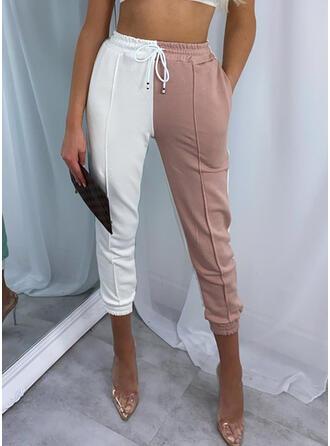 Geometrisch Kordelzug Lange Lässige Kleidung Sportlich Hosen