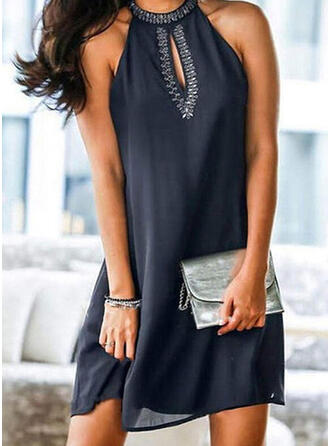 Solid Color Round Neck Off the Shoulder Classic Cover-ups Swimsuits