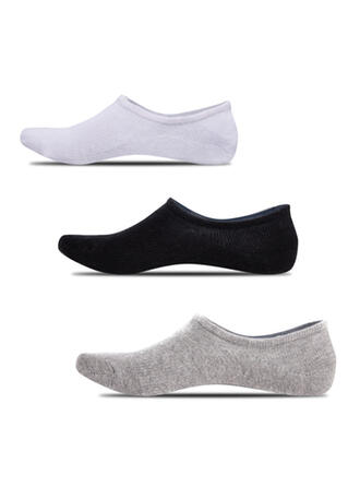Solid Color Non Slip/No Show Socks/Unisex Socks (Set of 5 pairs)