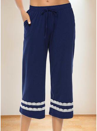 Lace Drawstring Casual Lace Shorts