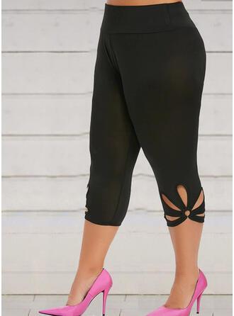 Solid Plus Size Elegant Sexy Yoga Leggings