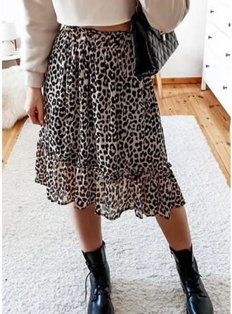 Leopard Knee Length Casual