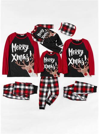 Rentier Karierte Schreiben Passende Familie Christmas Pajamas