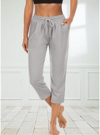 Pockets Drawstring Casual Sporty Lounge Pants