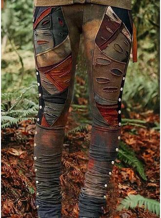 Taschen Shirred Übergröße Tie Dye Zerrissen Lässige Kleidung Stammes Gamaschen