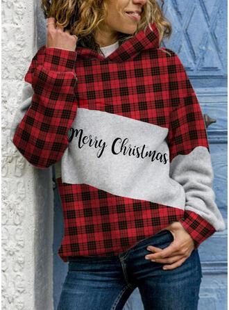 Gitter Figur Lange Ärmel Weihnachts-Sweatshirt