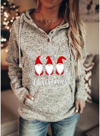 Print Figure Long Sleeves Christmas Sweatshirt