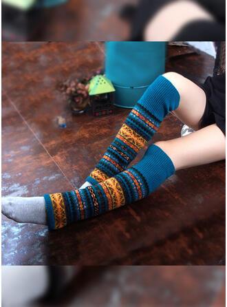 Gestreift/Geometrische drucken/Bunt Atmungsaktiv/Weihnachten/Knee-High Socks Socken/Strümpfe Socken